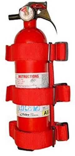 FMtoppeak Red Roll Bar Fire Extinguisher Holder Kit for 2007-2016 Jeep Wrangler
