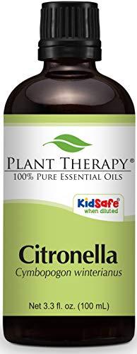 - Plant Therapy Citronella Essential Oil. 100% Pure, Undiluted, Therapeutic Grade. 100 mL (3.3 Ounce).