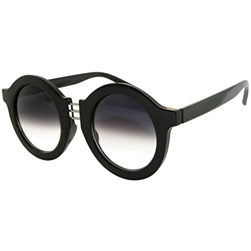Oversized Round Sunglasses with 3 Row Metal - Round Row The Sunglasses