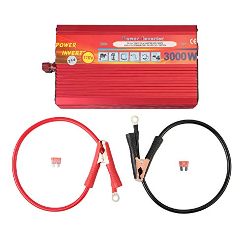 r 3000W 12V Or 24V to 110v Sine Wave Car Inverter Voltage Transformer Auto Converter Power Inverter ()