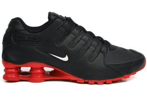 Nike Shox Nz Heren Hardloopschoenen [378341-000] Zwart / Wit / Rood Heren Schoenen 378341-000 Zwart / Wit / Rood