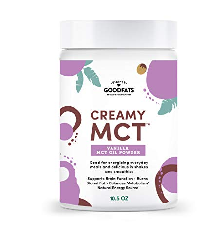 Simply Goodfats Creamy Vanilla MCT Oil Powder - Powdered MCT Oil to increase metabolism, improve energy, and promote keto lifestyle ... (Simply Coconut Oil)