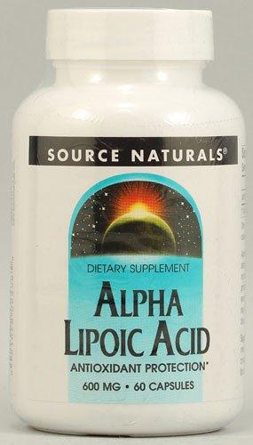 Source Naturals Alpha Lipoic Acid -- 600 mg - 60 Capsules - 3PC by Source Naturals