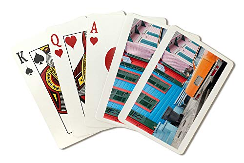 New Orleans, Louisiana - Colorful Buildings and Car - Photography A-95719 95719 (Playing Card Deck - 52 Card Poker Size with Jokers)