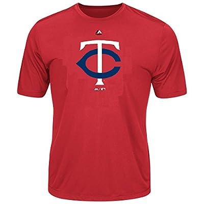Youth MLB Geo Strike Cool Base Tee (Youth Large 14/16, Minnesota Twins)