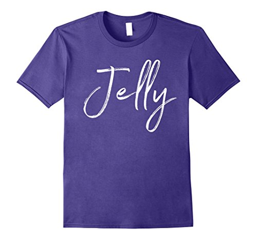 Sister Wife Halloween Costume (Mens Jelly Matching Peanut Butter Shirt Couples Halloween Costume Small Purple)