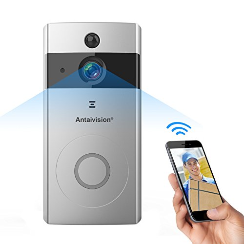 Antaivision WiFi Wire-free Video Doorbell Camera, HD Image for Home and Office, with PIR Motion Detection, Night Vision, Two Way Talking, Built-in 8G SD Card, Remote Viewing by All (Wire Free Doorbell)