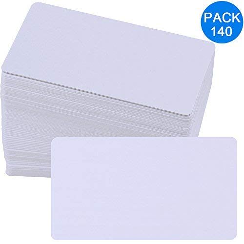 Supla 140 Pcs Business Cards Paper Blank - 3.2 X 2 (L X W) Message Cards White Place Cards Name Cards Word Cards Greeting Card Gift Cards Mini DIY Cards Graffiti Cards for DIY Scrapbookings