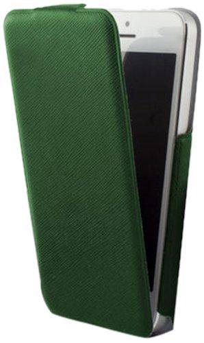 KSIX Étui à rabat vertical Ultra fin pour iPhone 5 Vert
