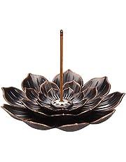 G.Dori Brass Lotus Flower Incense Sticks Holder, Incense Burner and Cone Incense Holder, Home Fragrance Accessories, Decor Aromatherapy Ornament