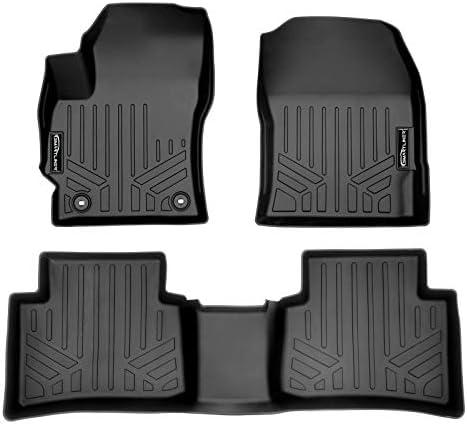 SMARTLINER Custom Fit Floor Mats 2 Row Liner Set Black for 2020-2021 Toyota Corolla (Non-Hybrid Sedan Models Only)