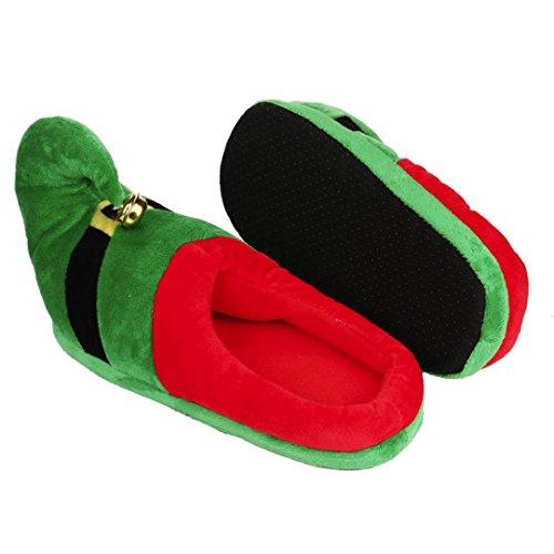 Elevin (tm) 2017christmas Donna Uomo Indoor Outdoor Home Inverno Caldo Peluche Pantofole Di Cotone Verde
