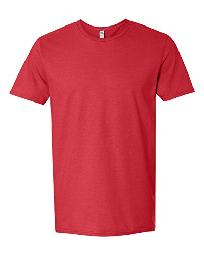 Fruit of the Loom Adult 4.7 oz. Sofspun« Jersey Crew T-Shirt-Fiery RED-3XL