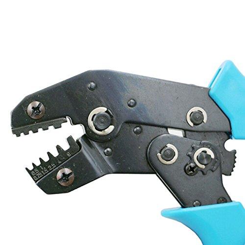 TOOGOO SN-05WF Terminales de pinza de resorte con terminal de clavija SM Herramienta de crimpado Alicates de crimpar Para terminales D-SUB 0.5-6mm2