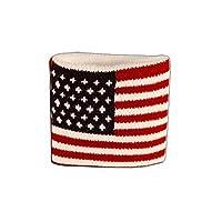 Digni Poignet éponge avec drapeau USA - Pack de 2 pièces