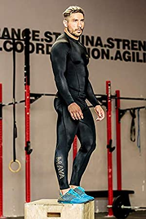 All Weather Long Capri Mava Mens Compression Long Leggings Training Base Layer Tights for Workouts Running Weightlifting Cycling Sports