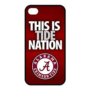 NCAA Alabama Crimson Tide This is Tide Nation IPHONE 4/4S Best Rubber+PC Cover Case By Every New Day