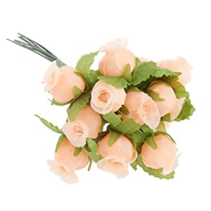 MagiDeal Artificial Flower Rose Head Silk Plant Floral Wedding Party Decor Pack of 144 91
