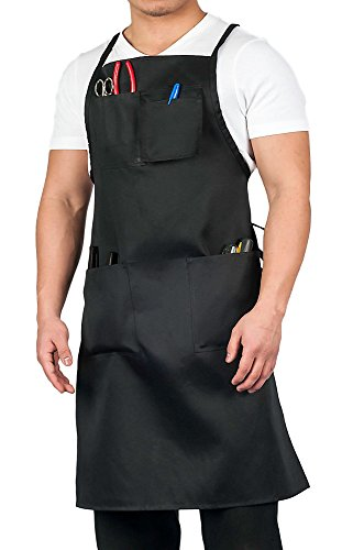 KNG Adult Shop Apron, Black -