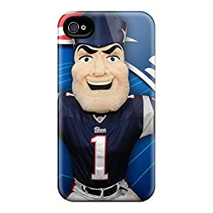 Premium New England Patriots Back Cover Snap On Case For Iphone 4/4s