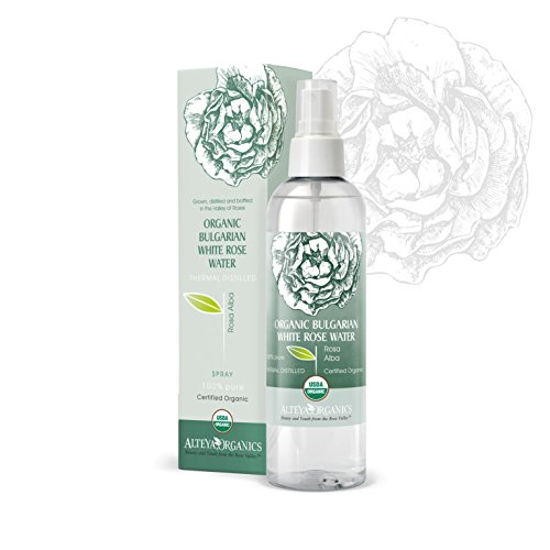 Rosewater Bulgarian (Alteya Organics Bulgarian White Rose Water (Rosa Alba) - USDA Certified Organic - 250ml /8.5 fl oz)