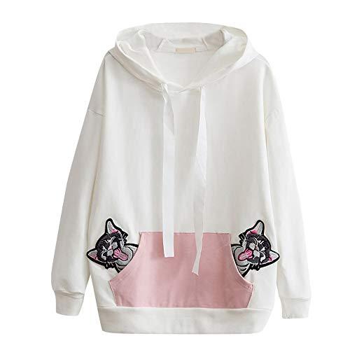 ALIKEEY Mädchen Sweatshirt mit Kapuze Pullover Elegante