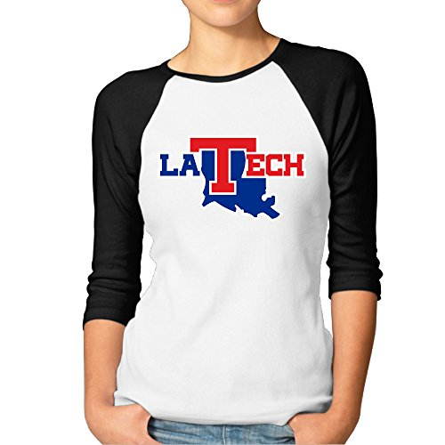 GUC Women's 3/4 Sleeve Tee - Louisiana Tech University Bulldogs Black - Hills Ford Chapel