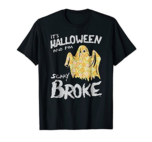 Funny Broke Ghost Halloween T-shirt ()