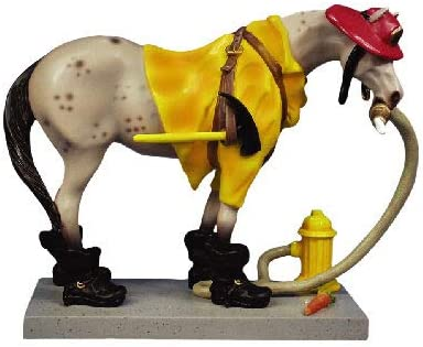 Trail of Painted Ponies Retired Fireman Pony 6 Collectible Resin Horse Figurine