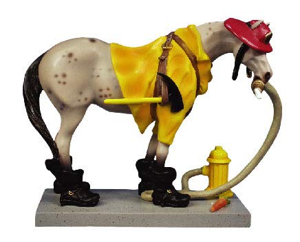(Trail of Painted Ponies Retired Appaloosa Fireman Pony 6