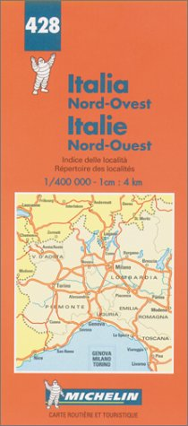 carte italie nord ouest michelin
