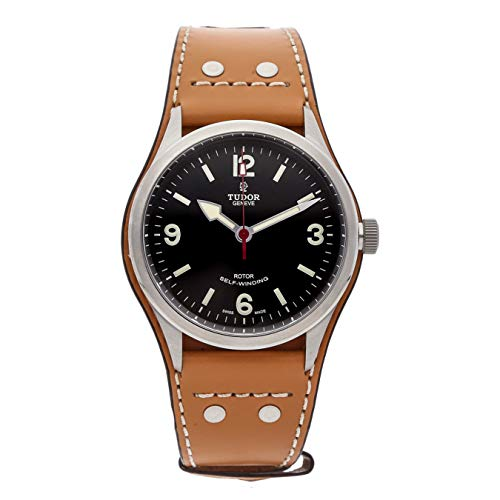 Tudor Heritage Ranger Automatic Black Dial Tobaco Brown Leather Mens Watch 79910-BUNDLTH