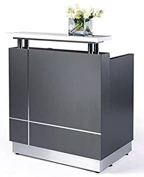 Small Modern Reception Desk Amazoncouk Office Products