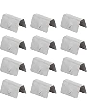 KIMISS Wind Deflector Clips,12Pcs Car Wind Rain Deflector Channel Stainless Steel Fixing Retaining Clips Fit for HEKO G3