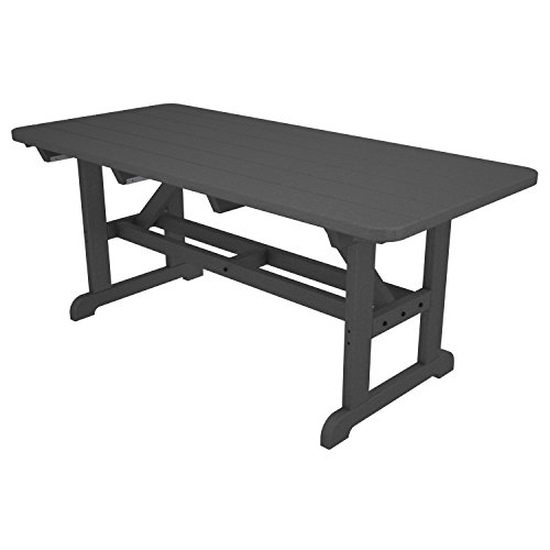 POLYWOOD Park Harvester Picnic Table Finish: Slate Grey (Benches Polywood Table With Picnic)