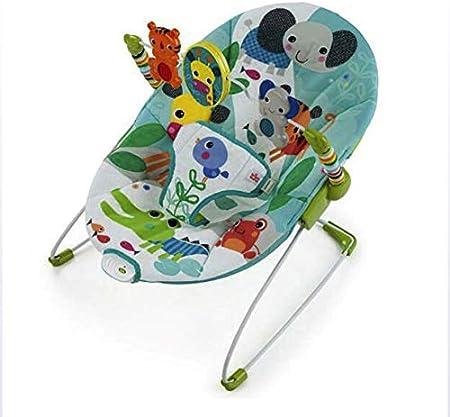 JTYX Silla Mecedora para bebé Cuna vibratoria Relajante Ajuste Plegable Sillón reclinable multifunción Sillas recién Nacidas