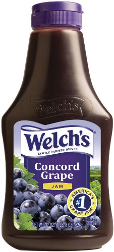 (Welch's Concord Grape Jam, 22-Ounce Squeezable Bottles (Pack of 6))