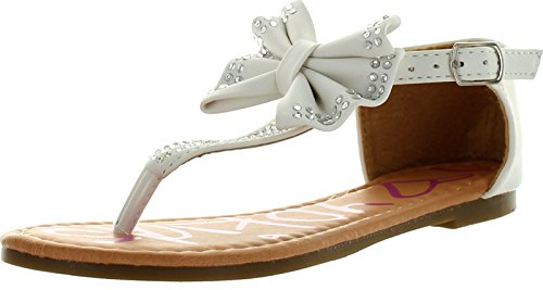 (Yokids Amanda-15 Little Girls Flat Thong Sandals with Bow and)