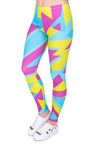 kukubird Varie Leggings da Ginnastica da Ginnastica Estensibili da Donna con Stampa di Yoga