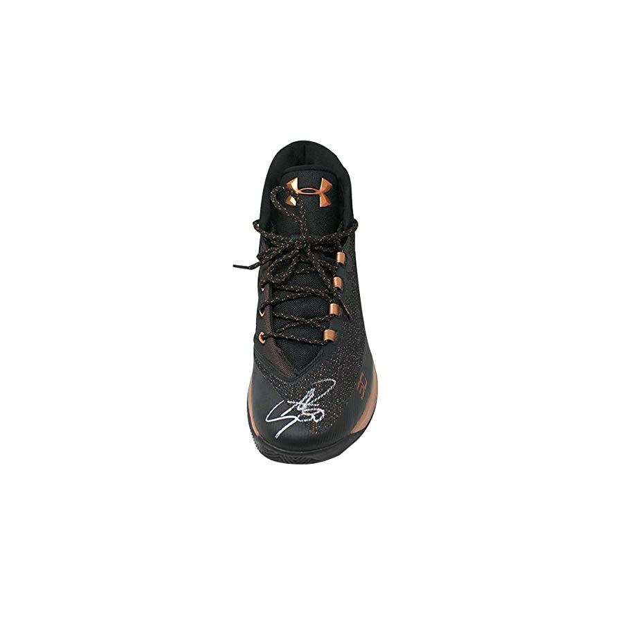 Stephen Curry Autographed Signed Black/Bronze Game Model Under Armor Curry 3 Shoe Single