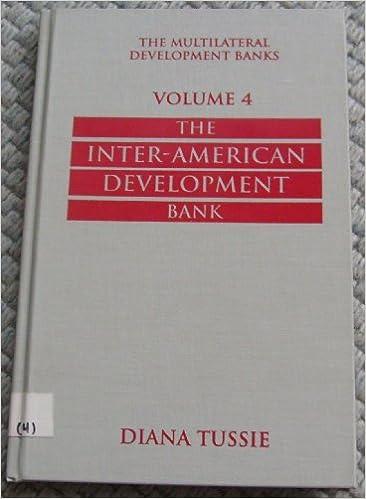The Multilateral Development Banks: The Inter-American Development Bank