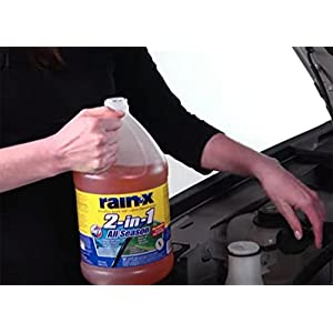 Rain-X Original 2-in-1 Windshield Washer Fluid, Removes Light snow, Ice, Grime, Improves Driving Visibility - 20° F