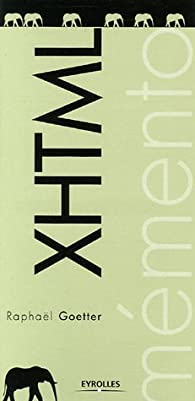 XHTML par Raphaël Goetter