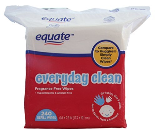 Equate - Everyday Clean - Baby Wipe Refill - Fragrance Free - 240 Count