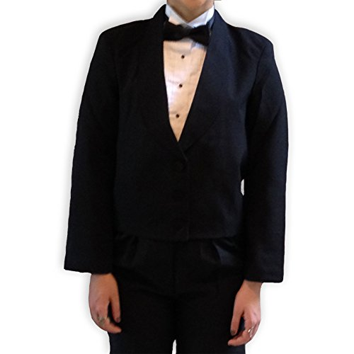 (Broadway Tuxmakers Women's Shawl Collar, Satin Trim Eton Tuxedo Jacket (14))