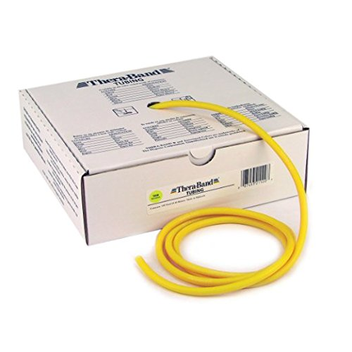 Hygienic/Theraband 21120 Professional Resistance Tube, Yellow, X-Thin, 100' Length (Pack of 6)