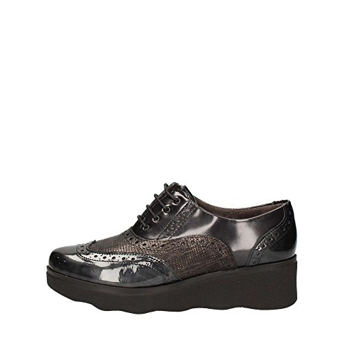 Lace Negro Shoes Up Pitillos 1321 Mujer XzqF65F8n