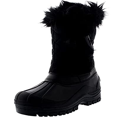 POLAR Womens Toggle Waterproof Winter Muck Thermal Mid Calf Boots