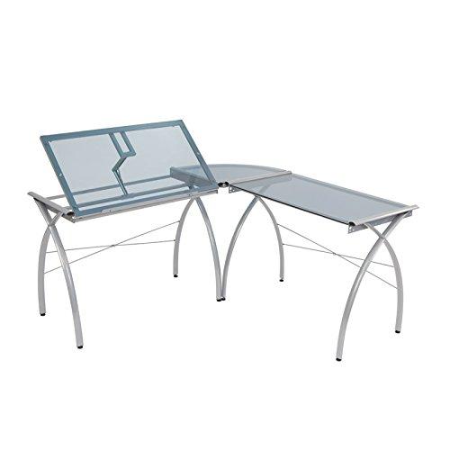 Ls Workcenter - Offex Ls Workcenter with Tilt (Silver/Blue Glass)