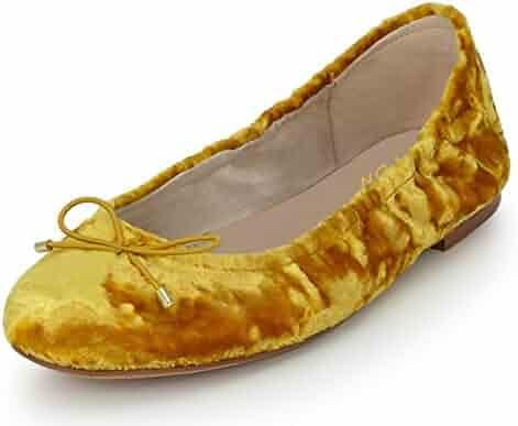 faab5eecfe8 YDN Women Fashion Round Toe Ballet Flats Slip on Low Heel Bow Pumps Walking  Shoes